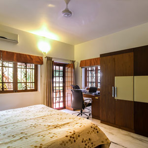 Luxury Apartment Bedroom in Domlur