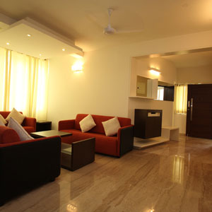 3BHK Luxury Apartment Living Area