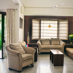 Duplex 3 BHK Apartment Living Area