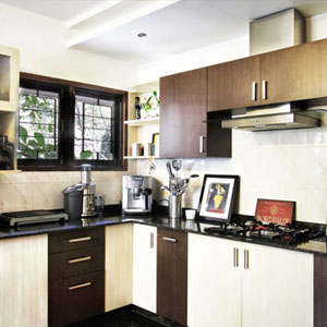 4 BHK Apartment Kitchen