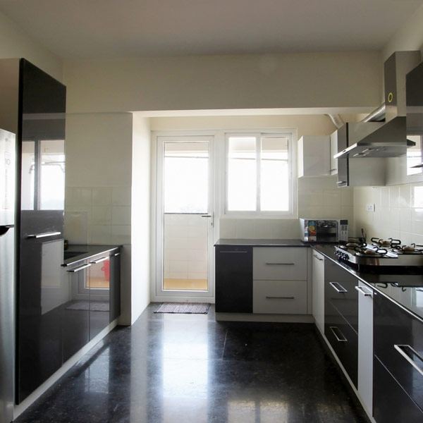 3 BHK Apartment Kitchen