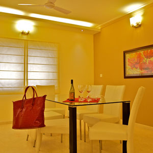 Luxury 3 BHK Apartment Dining Room