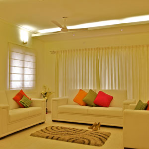 3 BHK Luxury Apartment Living and Dining Room