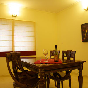 3 BHK Luxury Apartment Dining Room